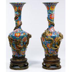 View 4: Asian Cloisonne Floor Vases
