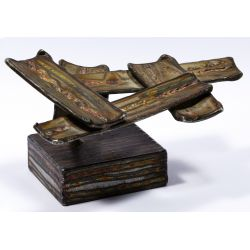 View 2: George Kafka (American, 20th Century) Modern Metal Sculpture