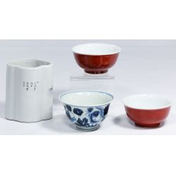 View 2: Chinese Bowl and Brush Pot Assortment