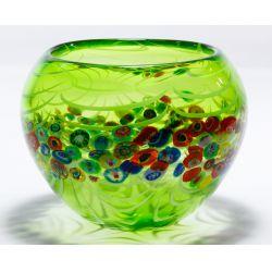 View 4: Murano Millefiori Art Glass Bowl