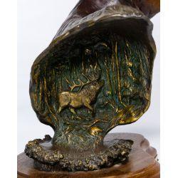 "View 4: Dennis Jones (American, b.1943) ""A Touch of Velvet"" Bronze Statue"