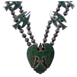 View 2: Native American Silver Thunderbird Necklace