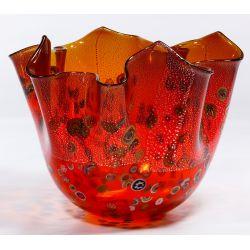 View 4: Murano Art Glass Handkerchief Vase