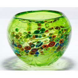 View 3: Murano Millefiori Art Glass Bowl