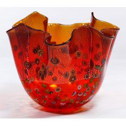View 2: Murano Art Glass Handkerchief Vase
