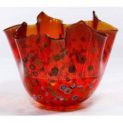 View 3: Murano Art Glass Handkerchief Vase
