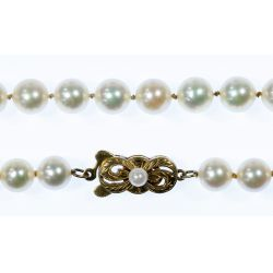 View 3: Mikimoto 14k Gold and 7mm Pearl Necklace