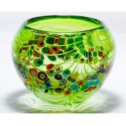 View 2: Murano Millefiori Art Glass Bowl