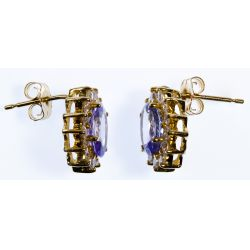 View 6: 14k Gold, Tanzanite and Diamond Pendant and Earrings