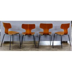 View 2: MCM Bent Wood Chairs by Arne Jacobsen for Fritz Hansen