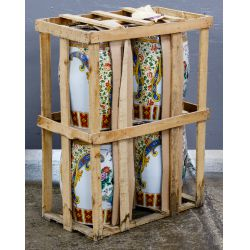 View 8: Asian Style Ceramic Garden Table and Stools