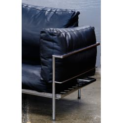 View 2: Chrome and Leather Love Seat (attributed to) Le Corbusier