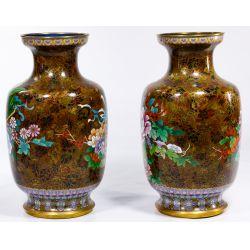 View 2: Asian Cloisonne Vases