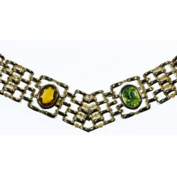 View 3: 14k Gold and Semi-Precious Gemstone Necklace