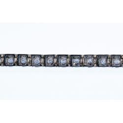View 4: 14k White Gold and Diamond Bracelet