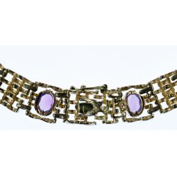 View 4: 14k Gold and Semi-Precious Gemstone Necklace