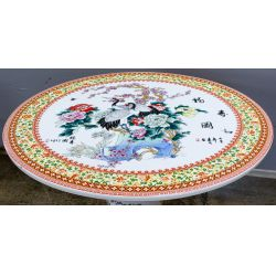 View 4: Asian Style Ceramic Garden Table and Stools