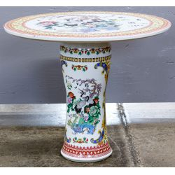 View 2: Asian Style Ceramic Garden Table and Stools