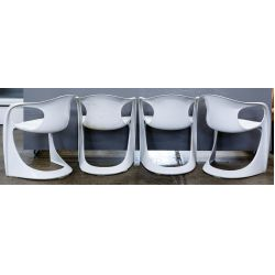 View 2: MCM White Chairs by Alexander Begge for Casala