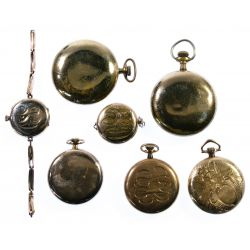 View 2: Elgin Gold Filled Pocket and Pendant Watch Assortment
