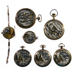 View 3: Elgin Gold Filled Pocket and Pendant Watch Assortment