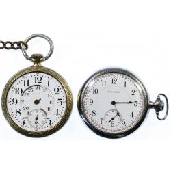 View 2: Open Face Railroad Pocket Watches