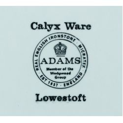 "View 2: Adams ""Lowestoft"" (Newer Backstamp) Calyx Ware China Service"