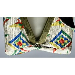 View 6: Native American White Beaded Purse