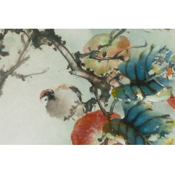 """View 2: Henry Yue-Kee Wo (American / Chinese, b.1927) """"Paradise"""" Watercolor"""