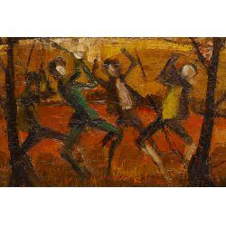 """View 2: Alfredo Romagnoli (Italian, b.1915) """"Don Quixote"""" Oil on Canvas"""