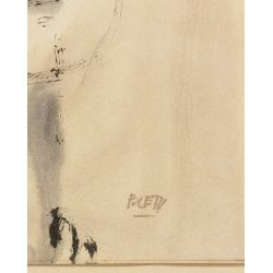 View 12: Poletti (American, 1908-1996) Watercolors on Paper