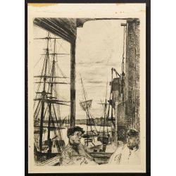 "View 5: (After) James Abbott McNeill Whistler (American, 1834-1903) ""Rotherhithe"" Etching"