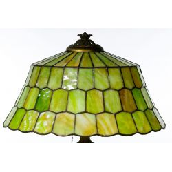 View 6: Unique Slag Glass Shade on Miller Base Table Lamp