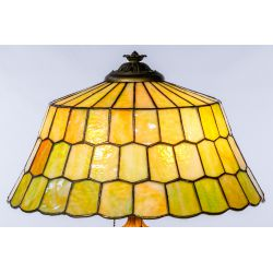 View 7: Unique Slag Glass Shade on Miller Base Table Lamp