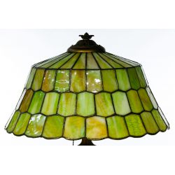 View 8: Unique Slag Glass Shade on Miller Base Table Lamp