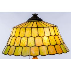 View 9: Unique Slag Glass Shade on Miller Base Table Lamp