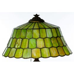 View 10: Unique Slag Glass Shade on Miller Base Table Lamp