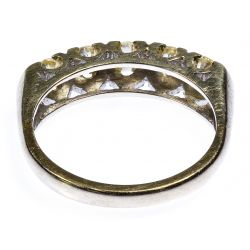 View 3: 14k White Gold and Diamond Band Ring