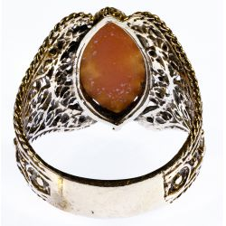View 3: 14k Gold and Cameo Ring