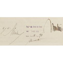 View 6: Benito Mussolini and Vittorio Emanuele III Signed Document