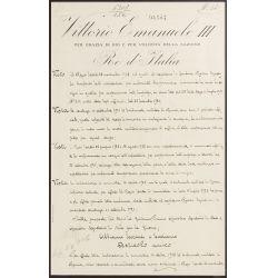 View 2: Benito Mussolini and Vittorio Emanuele III Signed Document