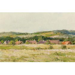 "View 2: Miroslav Kucera (Czech, b.1910) ""Countryside in South Bohemia"" Oil on Canvas Board"