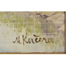 "View 4: Miroslav Kucera (Czech, b.1910) ""Countryside in South Bohemia"" Oil on Canvas Board"