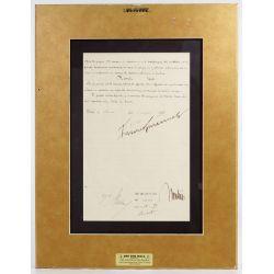 View 3: Benito Mussolini and Vittorio Emanuele III Signed Document