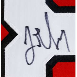 """View 2: Chicago Blackhawks """"Trent Yawney"""" Autographed and Framed Jersey"""