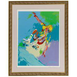 "View 5: Leroy Neiman (American, 1921-2012) ""Skateboard Boy"" Serigraph"