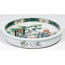 View 4: Chinese Famille Verte Porcelain Dish
