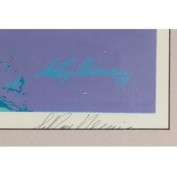 "View 6: Leroy Neiman (American, 1921-2012) ""Skateboard Boy"" Serigraph"
