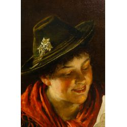 View 3: Rudolf Epp (German, 1834-1910) Oil on Canvas on Board