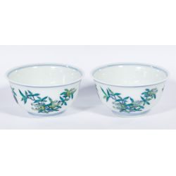 View 2: Chinese Yongzheng Doucai Cups